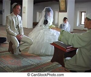 Wedding of Crimean Tatars in Mosque