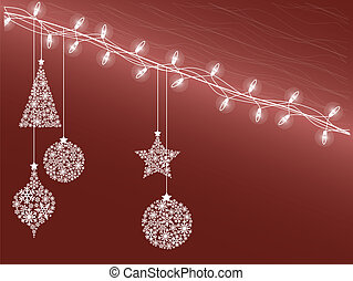 christmas decorations  - Background of Christmas lights
