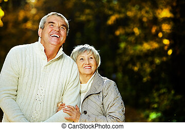 Husband and wife - Photo of senior husband and wife spending...