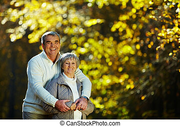 Happy couple - Photo of senior couple spending free time in...