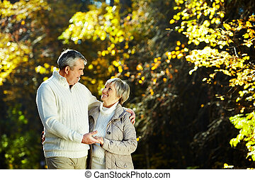 Happy time - Photo of senior couple spending free time in...