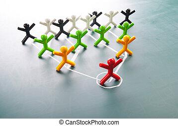 組織, 企業である, 階層, チャート, 会社