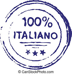 Hundred percent italian ink stamp - hundred percent italian...