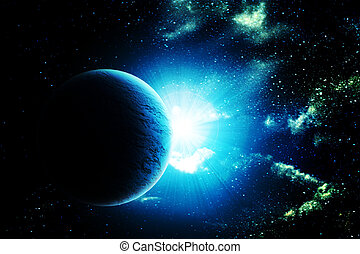 illustration of beautiful planet in space