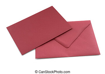 red letter and envelope - Studio photography of a red letter...