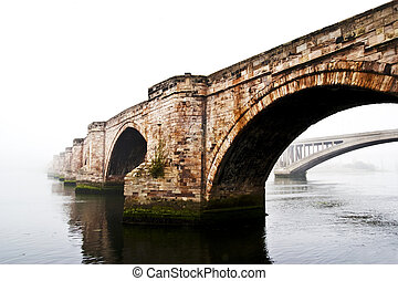 Old bridge over river Tweed