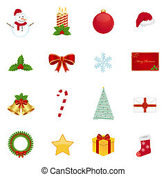 Christmas icons - Set of christmas icons
