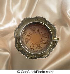 お茶, 受皿, ノスタルジック, カップ