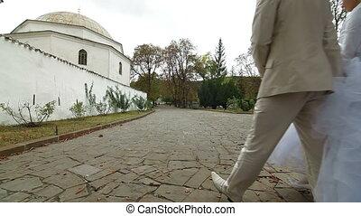 Muslim Wedding in Bakhchisarai - Crimean Tatar newlyweds...