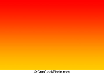 Gradient from yellow via orange to - An horizontal gradient...