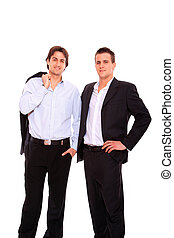 Portrait of business men working together - Portrait two...
