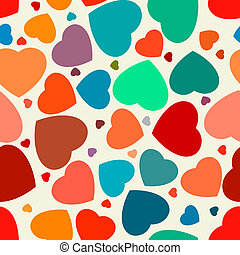 Hearts seamless Background. EPS 8 vector file included