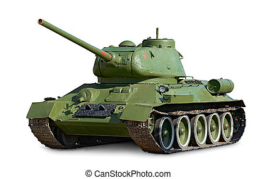 Soviet tank T-34 - T-34 Soviet medium tank during World War...