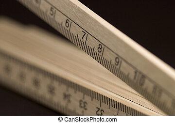 wooden pocket ruler detail - detail of a wooden pocket ruler...