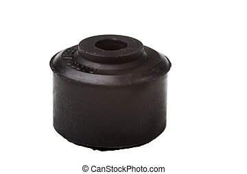 car spares - car spare (rubber bush) isolated on white...