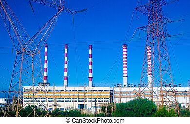 Power station, electricity, industrial, voltage, Greese,...