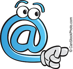 Funny At Symbol - A funny at symbol cartoon character...