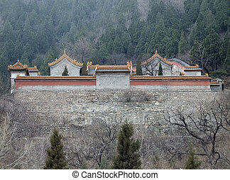 building near Badaling - building around the Great Wall of...