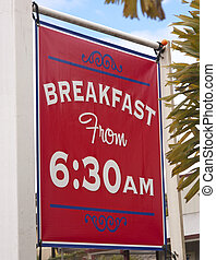 Breakfast sign - breakfast sign outside of diner