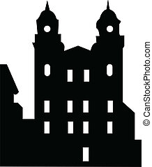 old house - Illustration of old house silhouette - vector