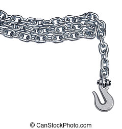 chain and hook - studio photography of a metal chain and...