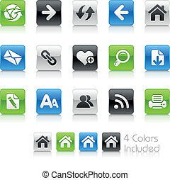 Web Navigation / Clean - The EPS file includes 4 color...