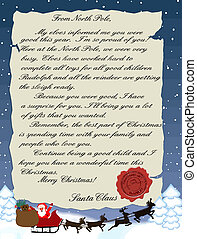 Letter from Santa Claus - Vector illustration of a letter...