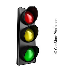 Traffic light - Illustration of a traffic light with three...