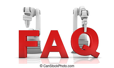 Industrial robotic arms building FAQ word