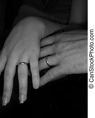 Weding rings - Holding hands with wedding rings
