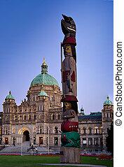 Parliament building Victoria, British Columbia, Canada -...