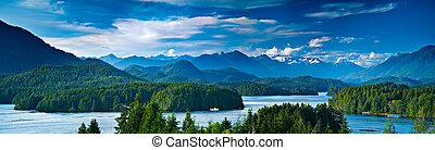 Panoramic view of Tofino, Vancouver Island, Canada -...