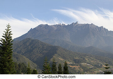 Mt Kinabalu - A view of Mt Kinabalu in Malaysia, on the...