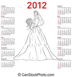 Stylish calendar Bride  for 2012.