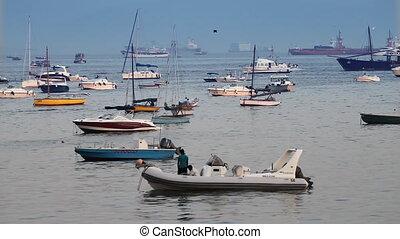 boats and yachts at sea