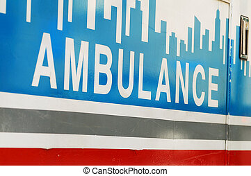 An ambulance concepts of emergency