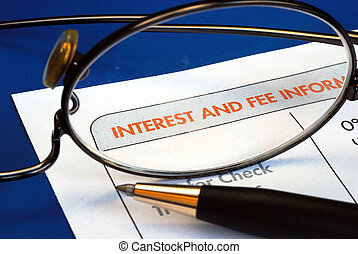 Interest and fee information