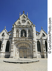 Monastery of Brou in France architectural detail