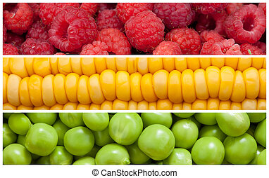 Set of food background - Set background of natural food,...