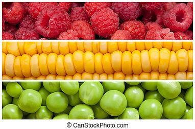 Set of food background - Set background of natural food,...