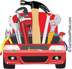 car fix - Set of different tools for car repair