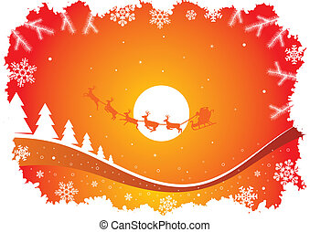 holiday background with santa