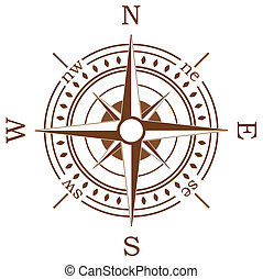 compass  - vector compass on white background