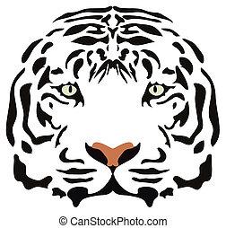 tiger head  - vector image of tiger head