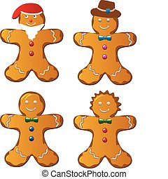 gingerbread cookies - vector gingerbread cookies