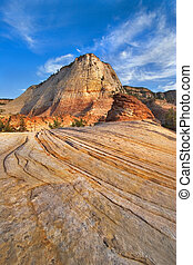 Triangular small mountain - Striped mountains in National...
