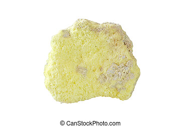 Volcanic sulfur isolated on the  white background