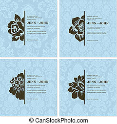 Vector Floral Ornament Frame Set Easy to edit Perfect for...