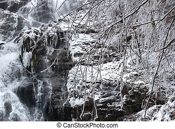 Todtnau Waterfall detail - detail of a waterfall near...