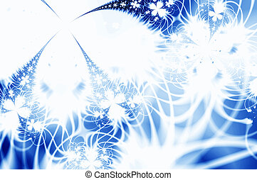 Frostwork - Winter fantasy. Abstract ice flowers